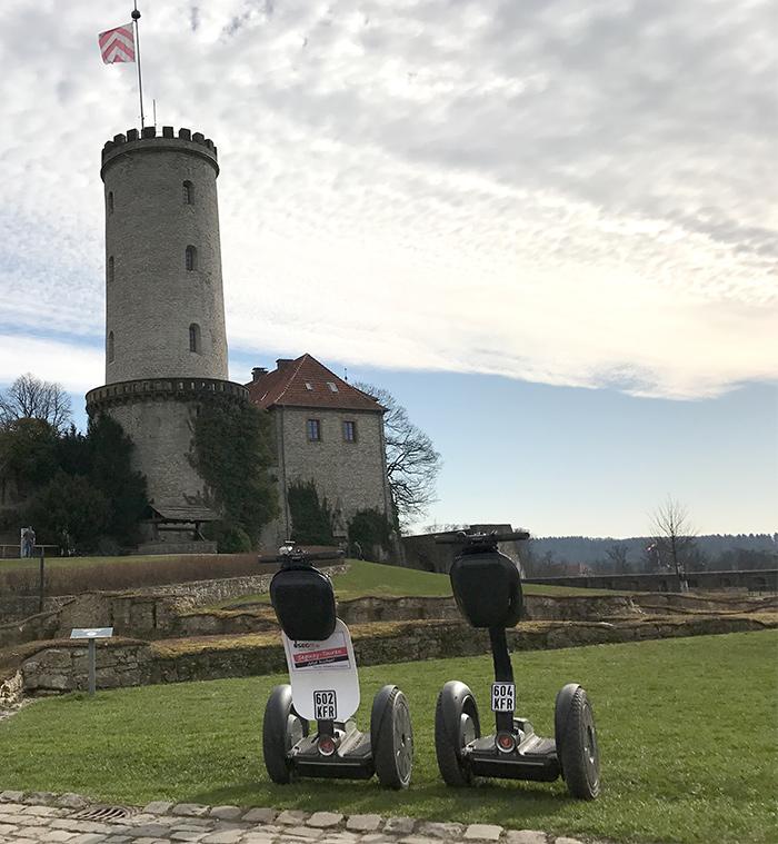 Segway mieten und fahren Bielefeld Sparrenburg