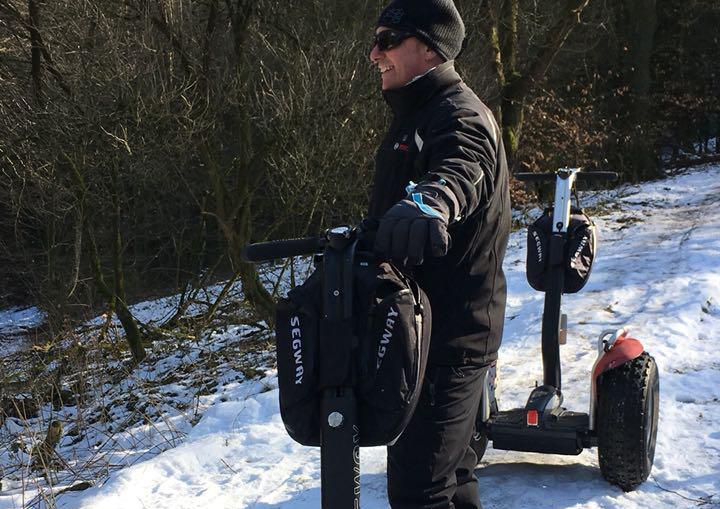 Segway fahren winter in bielefeld