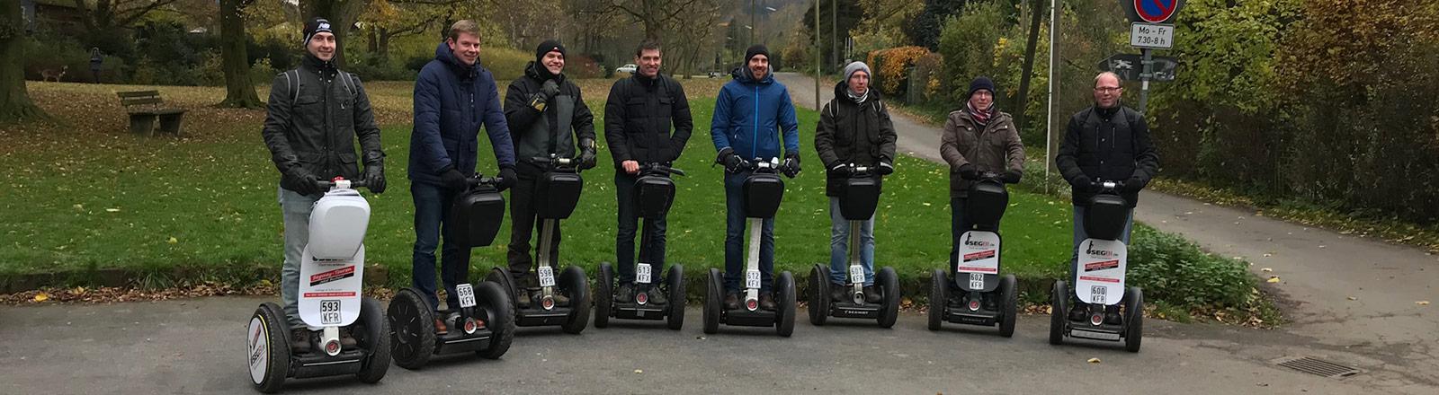 Gruppen Tour fahren Segway